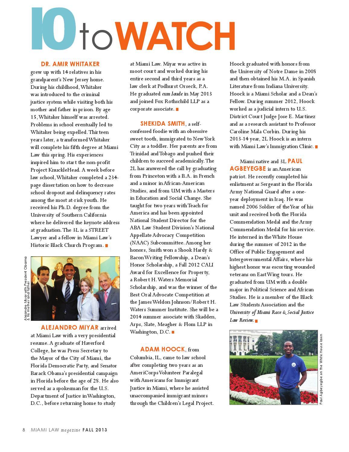 Miami Law Magazine: Fall 2013 by University of Miami School
