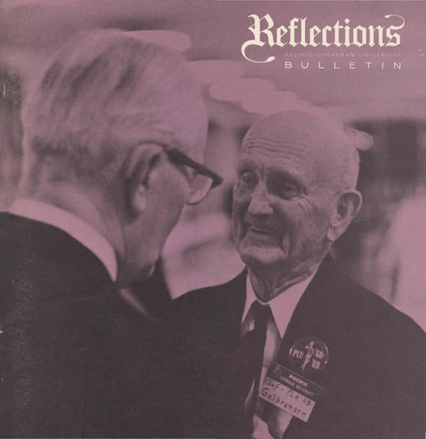 Reflections 1969 january by Pacific Lutheran