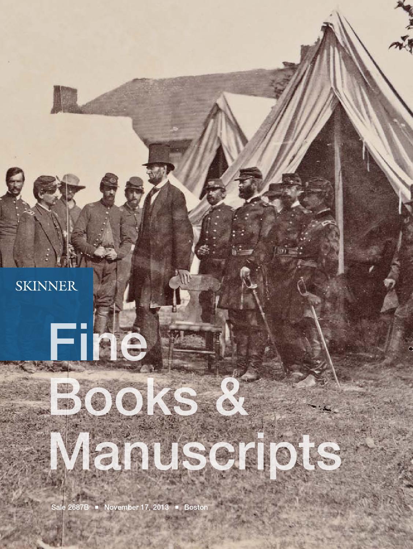 Fine Books & Manuscripts   Skinner Auction 2687B by Skinner, Inc. - issuu