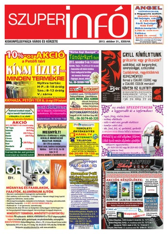 Szuperinfo 2013. 10. 31. by Fricsk Ferenc - issuu 9e1a3e0a6c