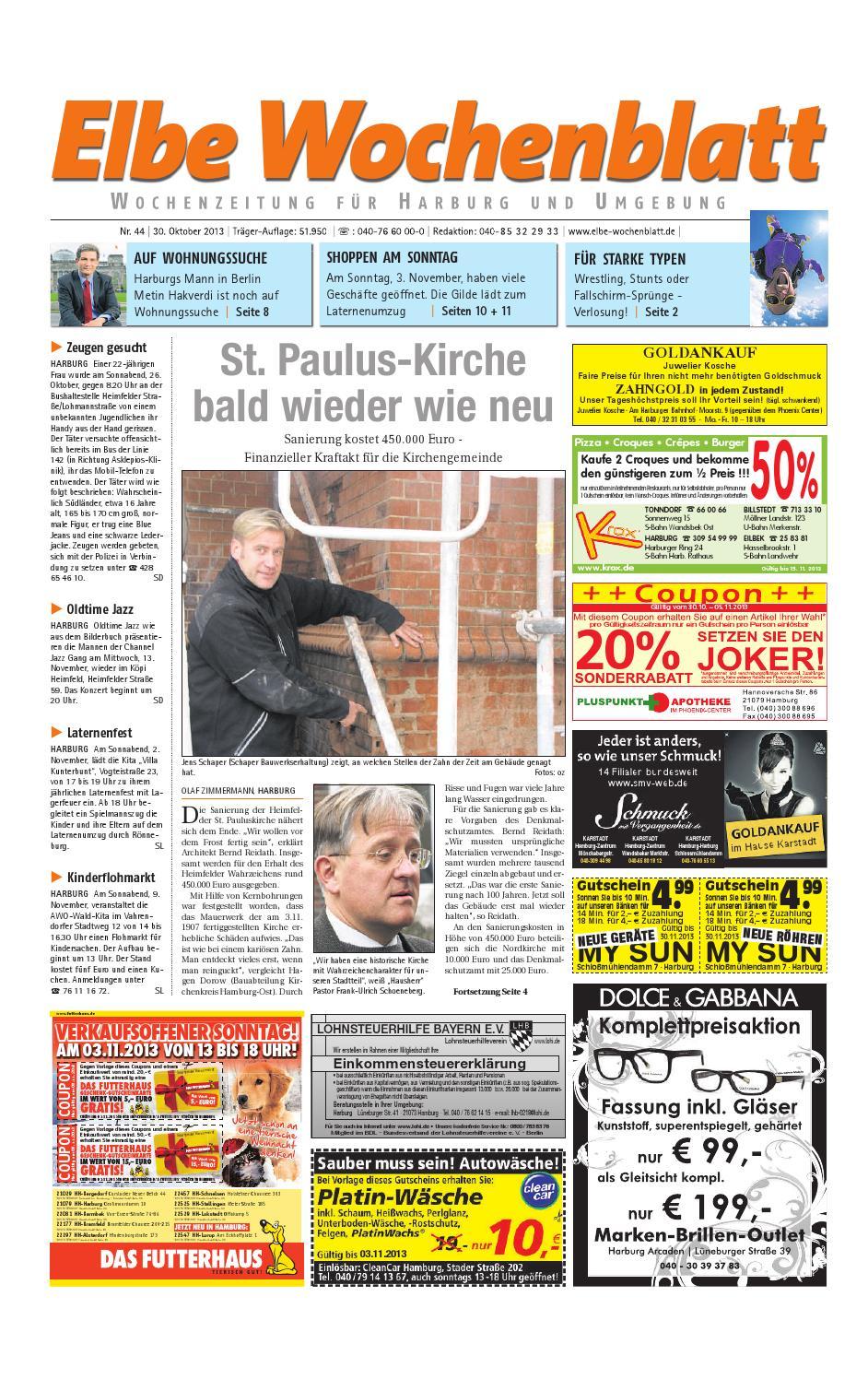 Harburg KW44 2013 By Elbe Wochenblatt Verlagsgesellschaft MbH & Co