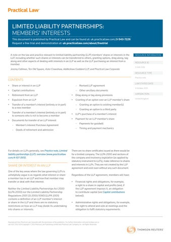Limited Liability Partnerships By Ten Old Square Issuu