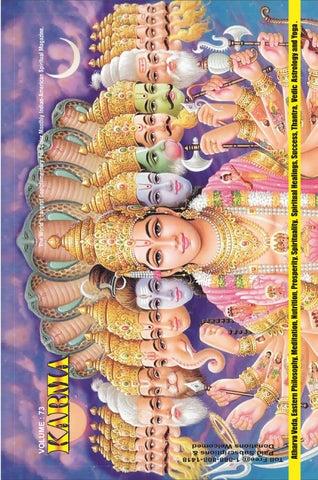 Karma magazine published by swamiji sri selvam siddhar dr commander selvam  shiva vishnu temple volum