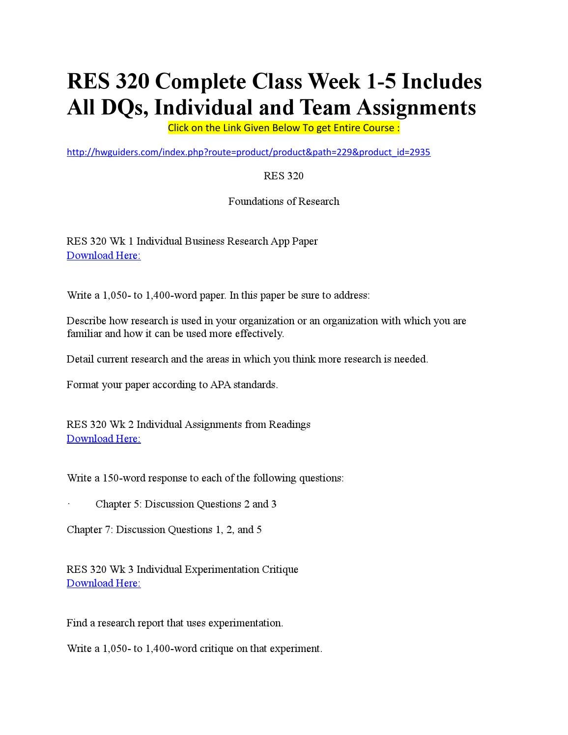 res 320 foundations of research complete Research proposal example the functionality model as conceptual foundation for management of technology (mot.
