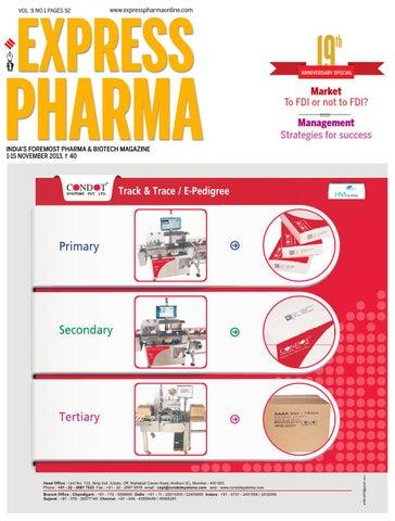 Express Pharma November 1-15, 2013 by Indian Express - issuu