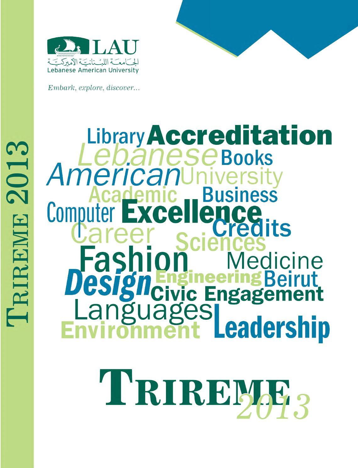 LAU Trireme 2013 by Lebanese American University - issuu