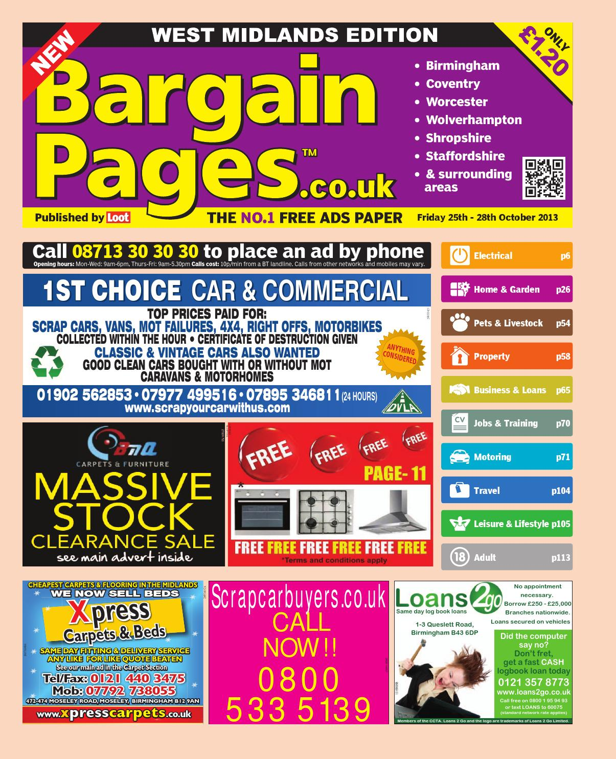 Bargain Pages Midlands, 25th October 2013 by Loot issuu