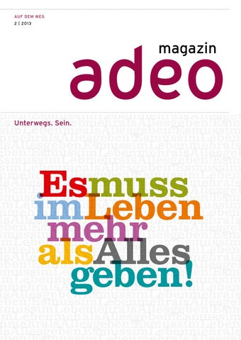 adeo magazin 2/2013 by Gerth Medien - issuu