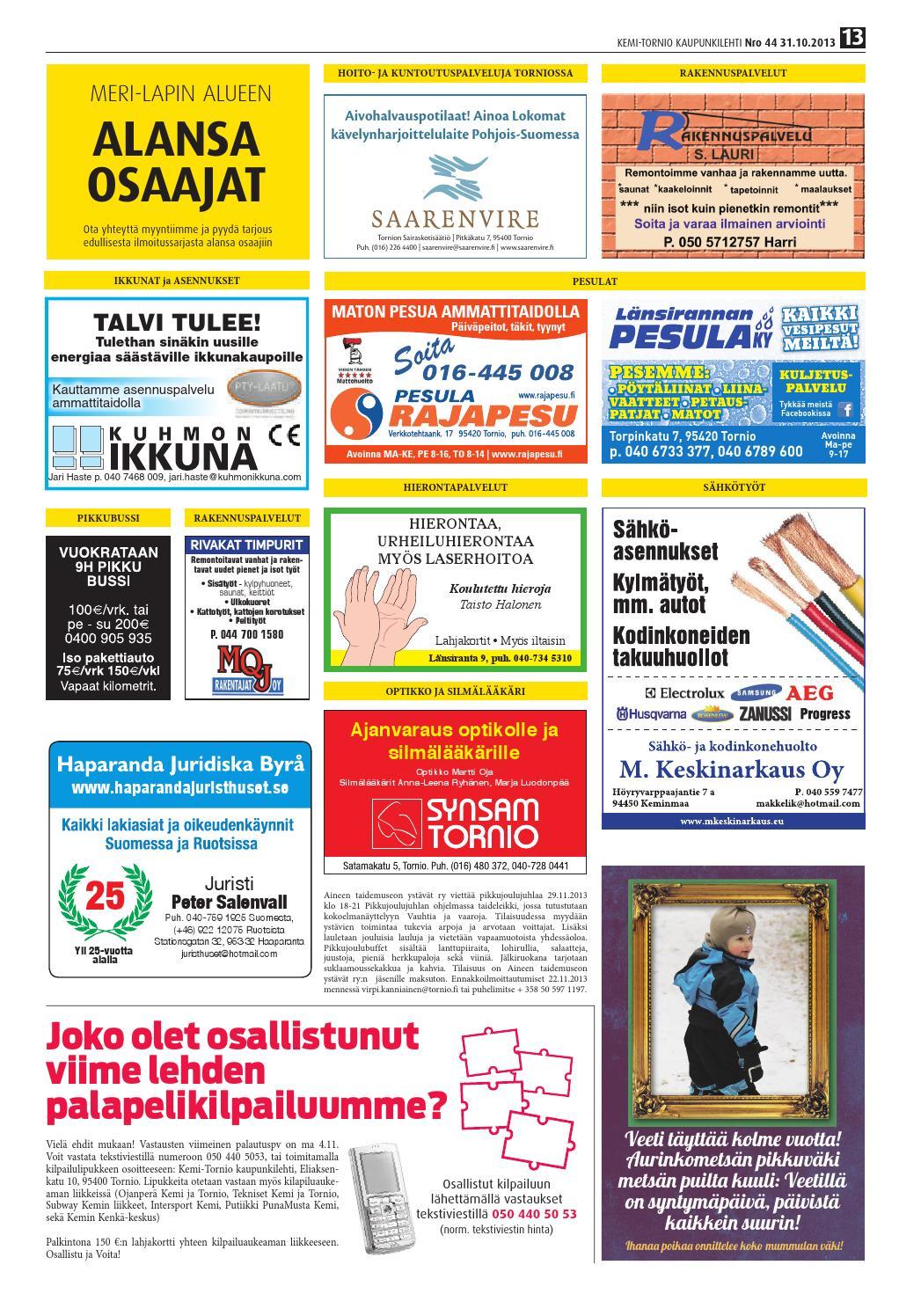 Kemi-Tornio Kaupunkilehti nro 44 2013 by Crea - issuu 0c1f503fbf