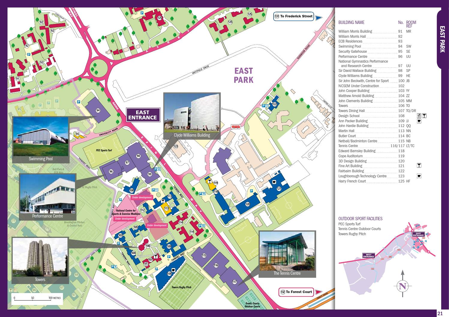 Campus Map 2012 By Loughborough University Issuu