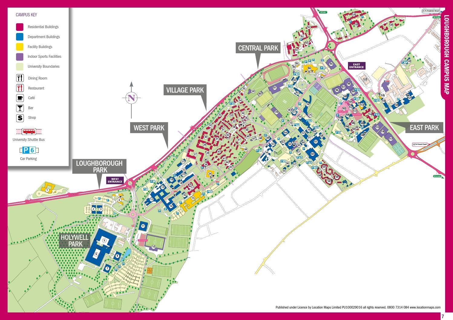 Loughborough University Map Campus Map 2012 by Loughborough University   issuu