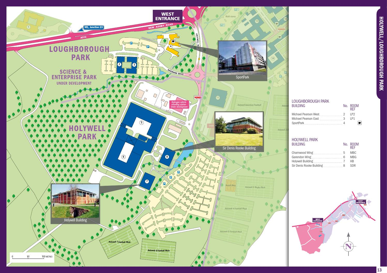 Amazing Building Plans Loughborough Part - 14: Campus Map 2012 By Loughborough University - Issuu