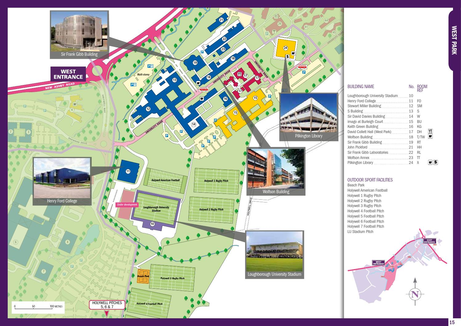 College Station Ford >> Campus Map 2012 by Loughborough University - Issuu