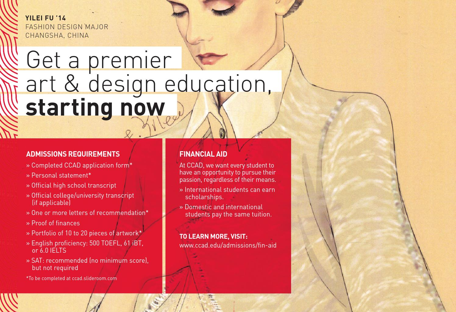 International Student Brochure By Columbus College Of Art Design Issuu