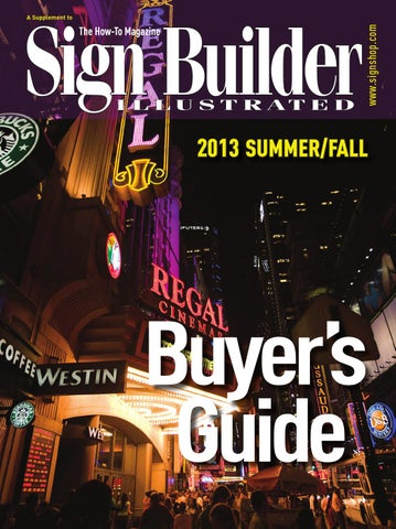 2013 Summer/Fall Sign Builder Buyer's Guide by Sign Builder