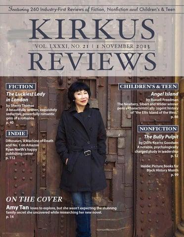 November 01 2013 Volume Lxxxi No 21 By Kirkus Reviews Issuu