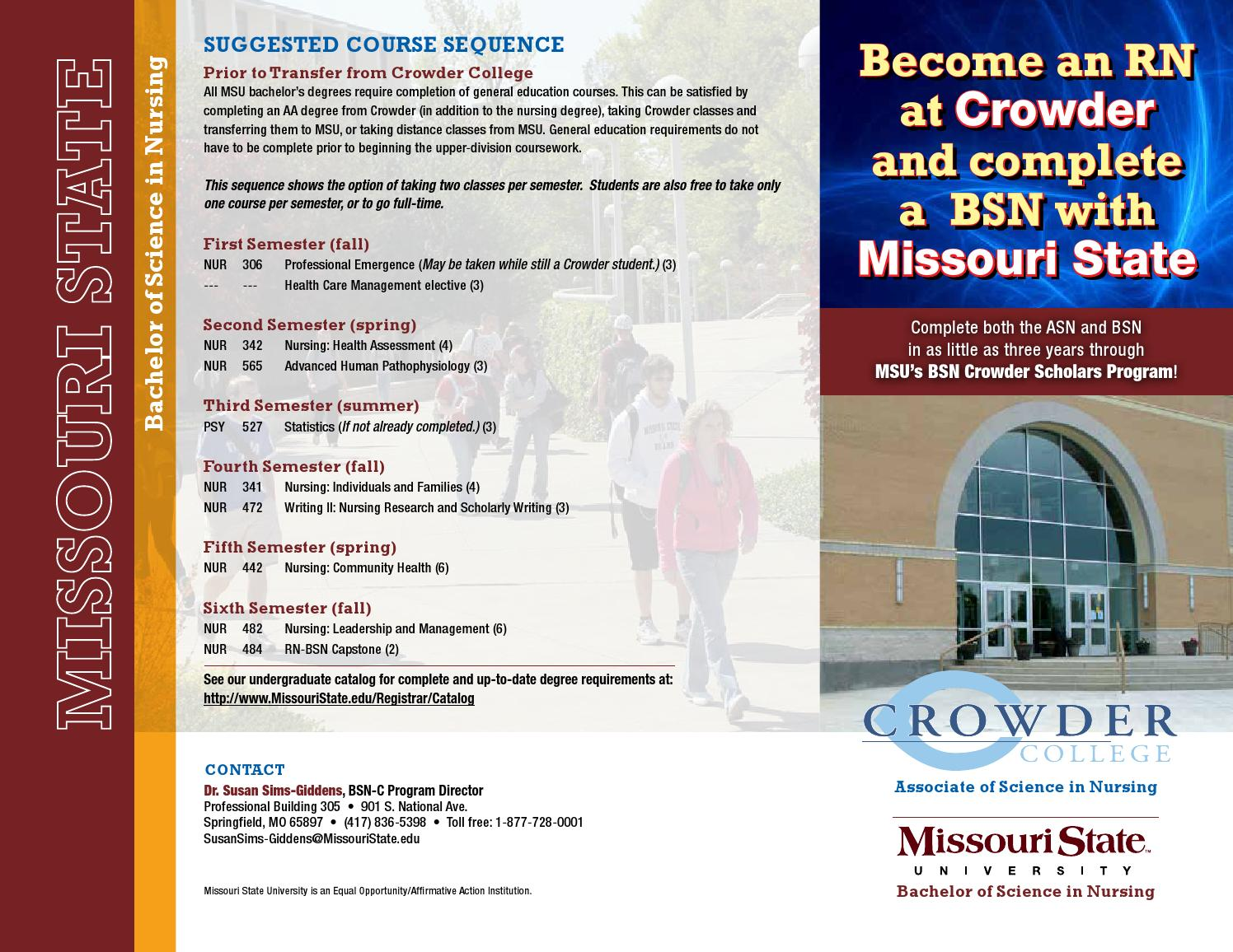 Earn an rn from crowder college and a bsn from missouri state by earn an rn from crowder college and a bsn from missouri state by missouri state university outreach issuu 1betcityfo Images