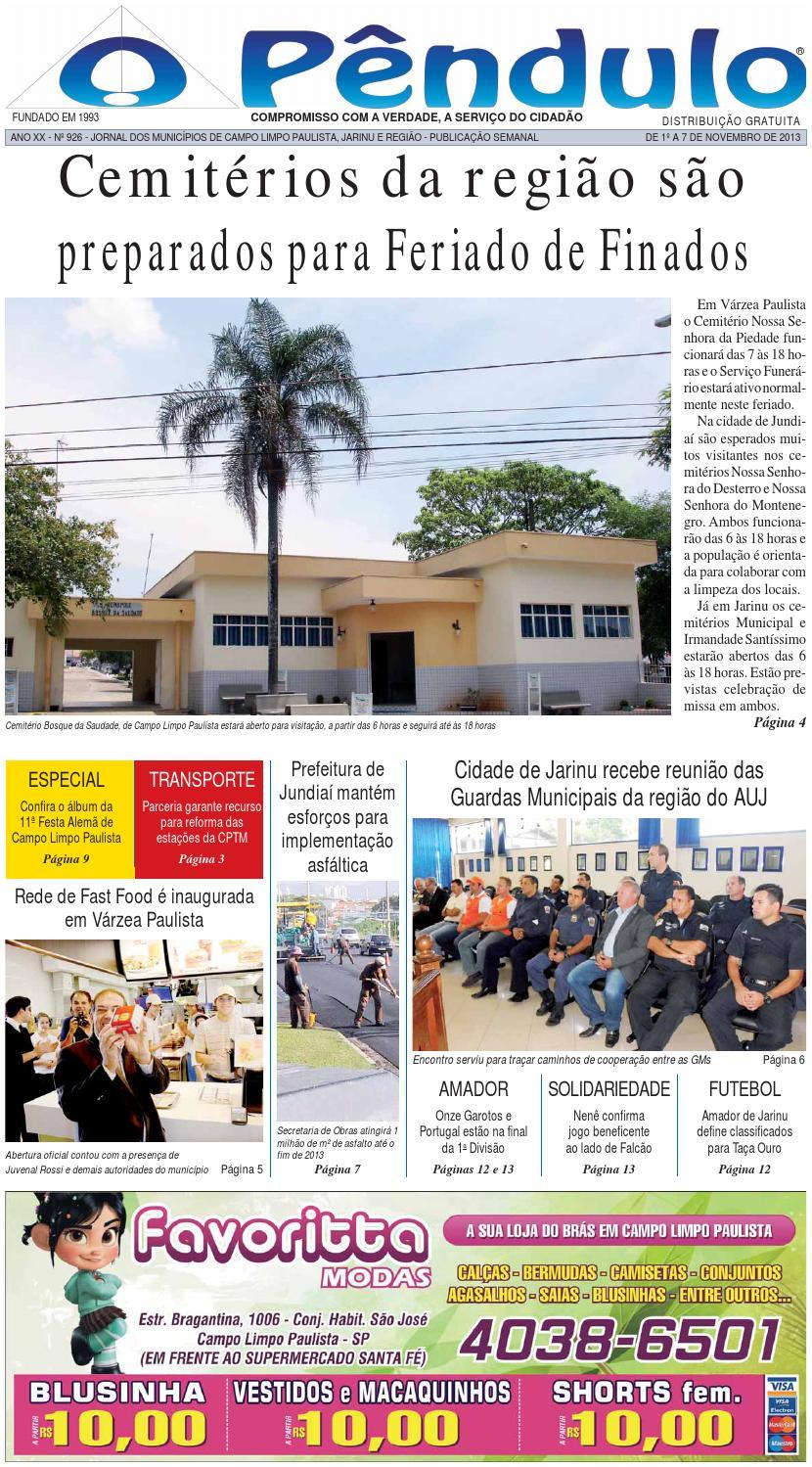 2c85fb99ec0 Edicao 926 by Nilceu Pendulo - issuu