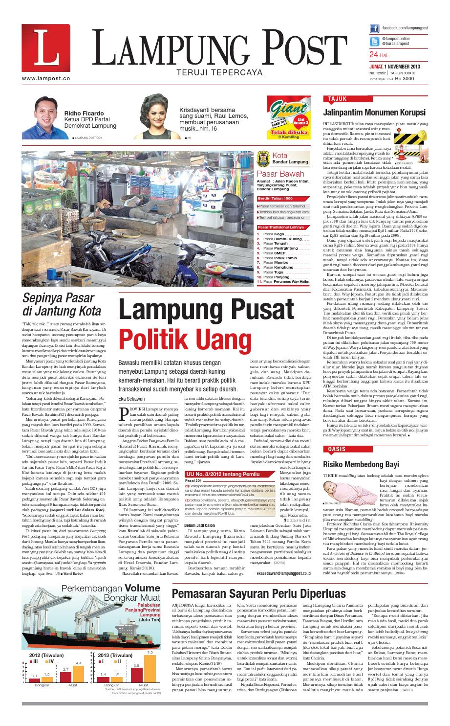 Lampung Post Jumat 1 November 2013 By Lampung Post Issuu # Muebles Koyga Vigo