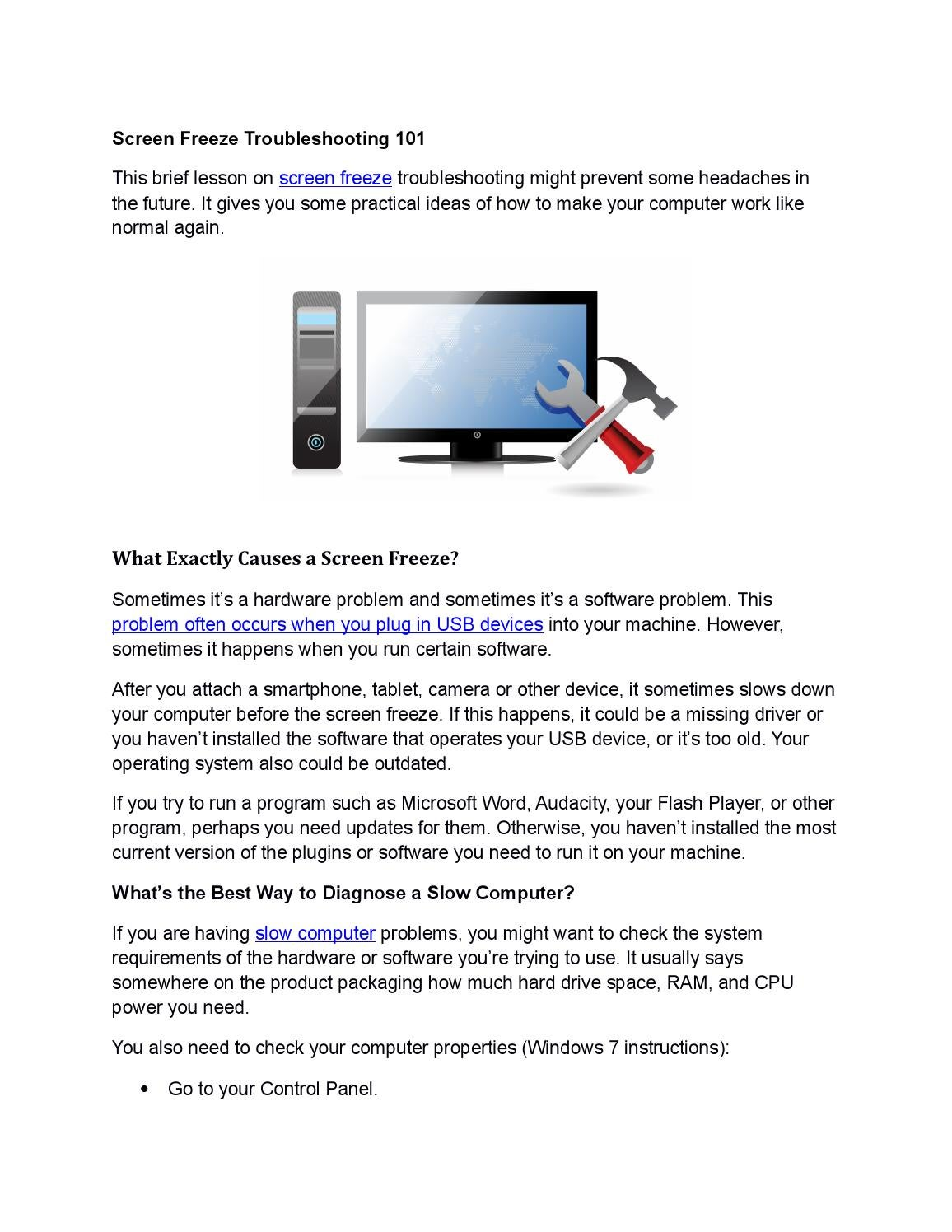 Screen freeze troubleshoot 101 by Boost Software - issuu