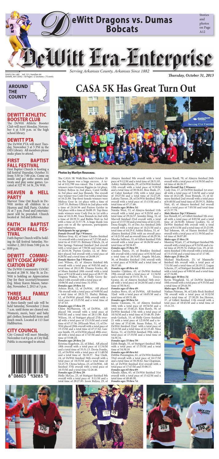 DeWitt Era-Enterprise 10/31/13 by Lewis County Press - issuu