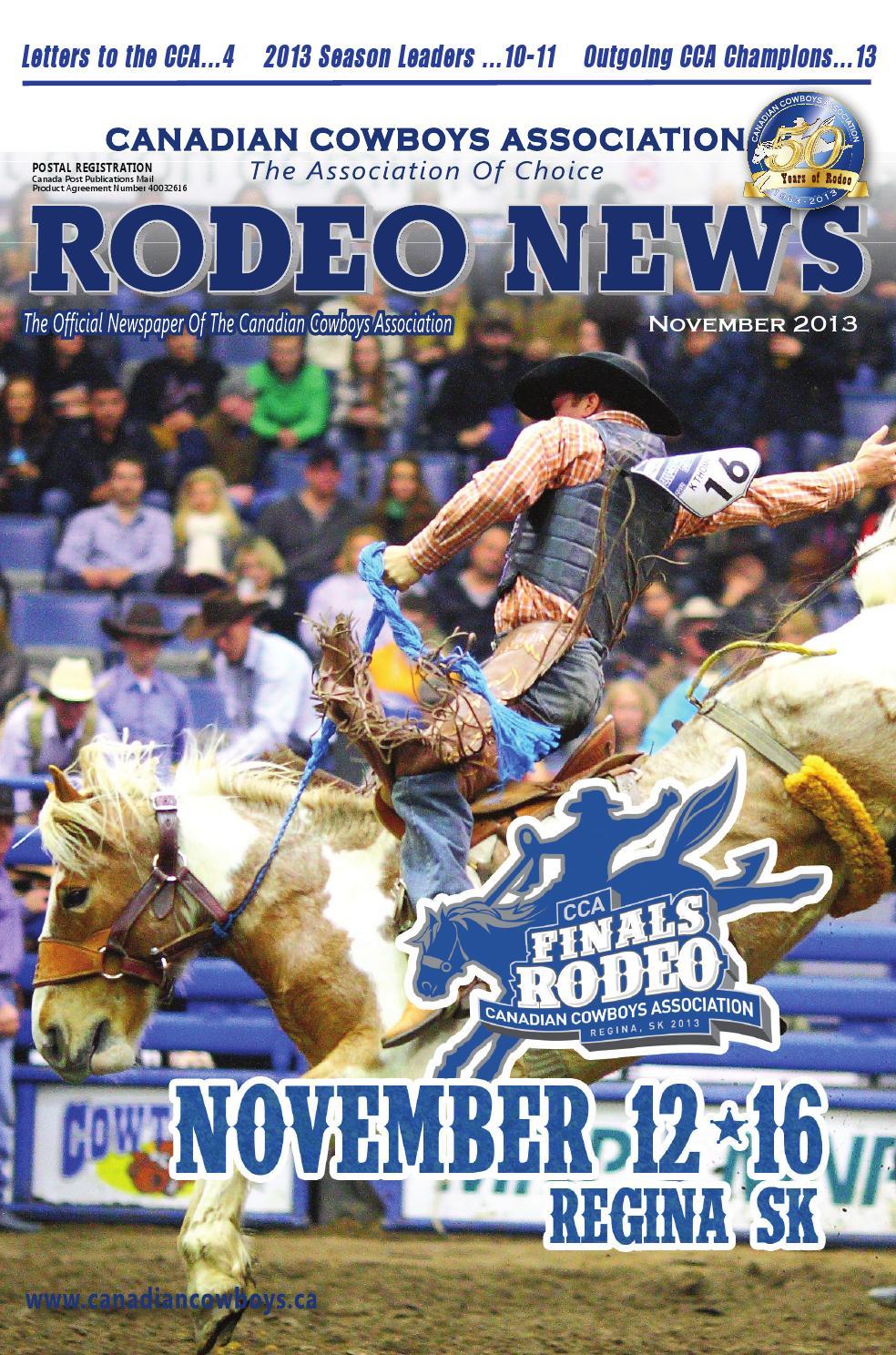 Cca Rodeo News Nov 2013 By Threadhosting Inc Issuu