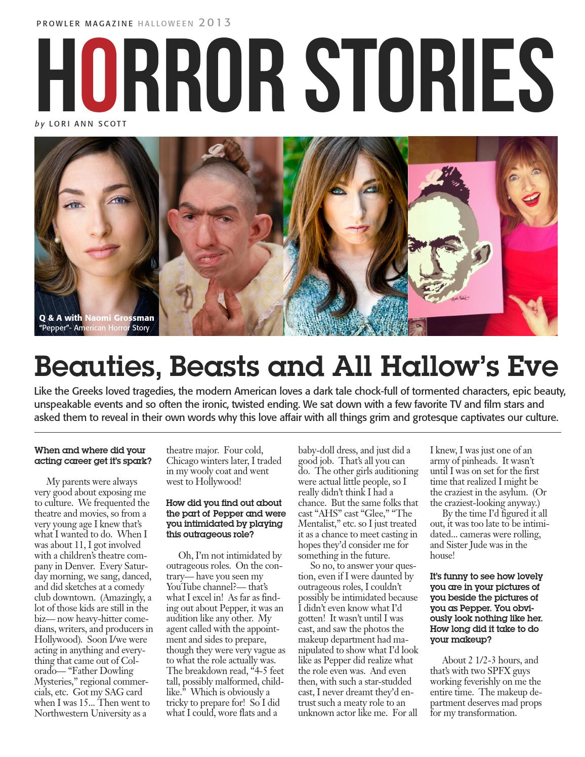 Prowler Magazine-Halloween Horror Stories-2013 by Prowler