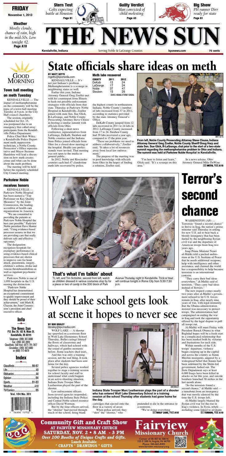 The News Sun – November 1 d5fc86205349e