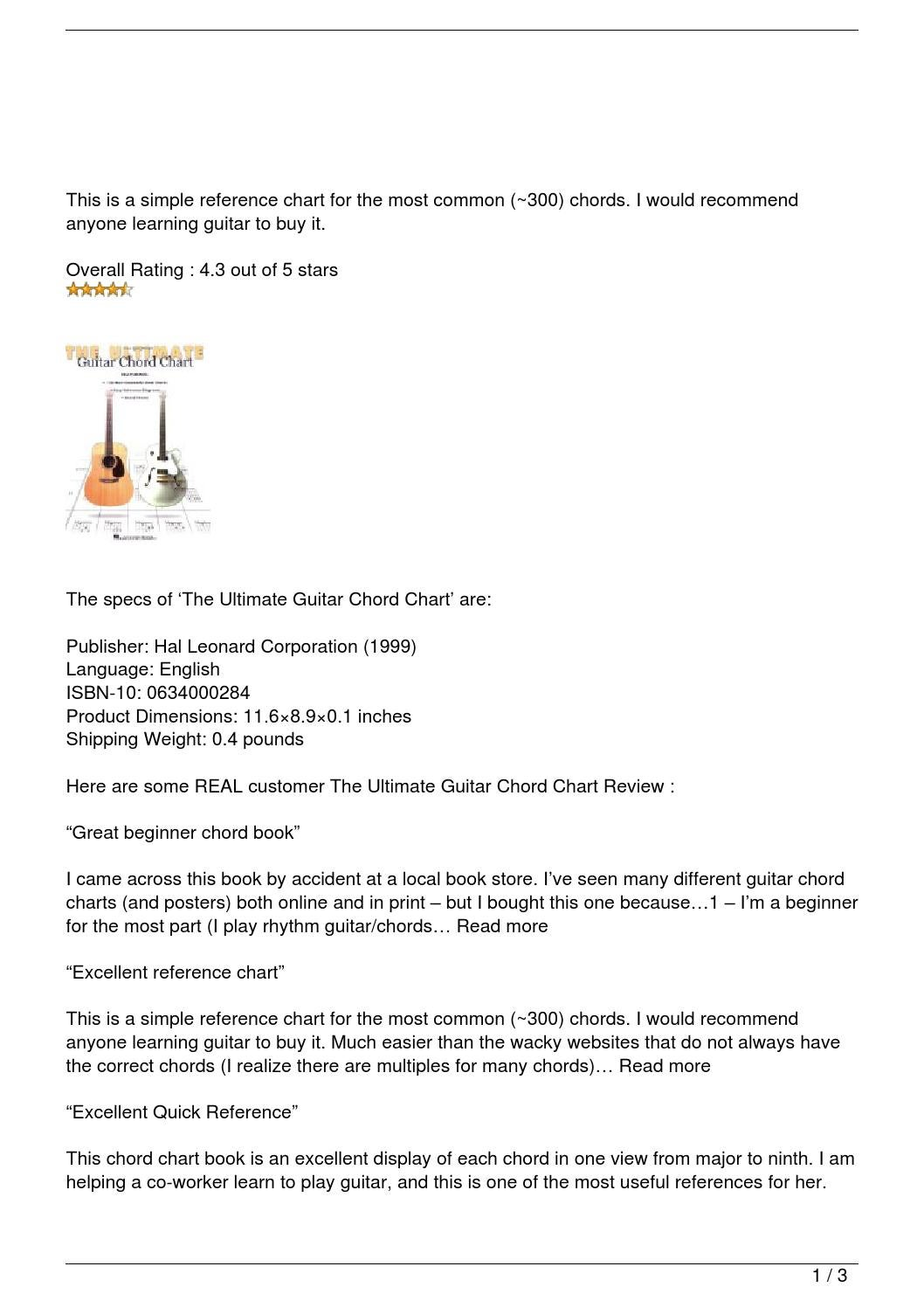The Ultimate Guitar Chord Chart Review By Ramzi168 Issuu