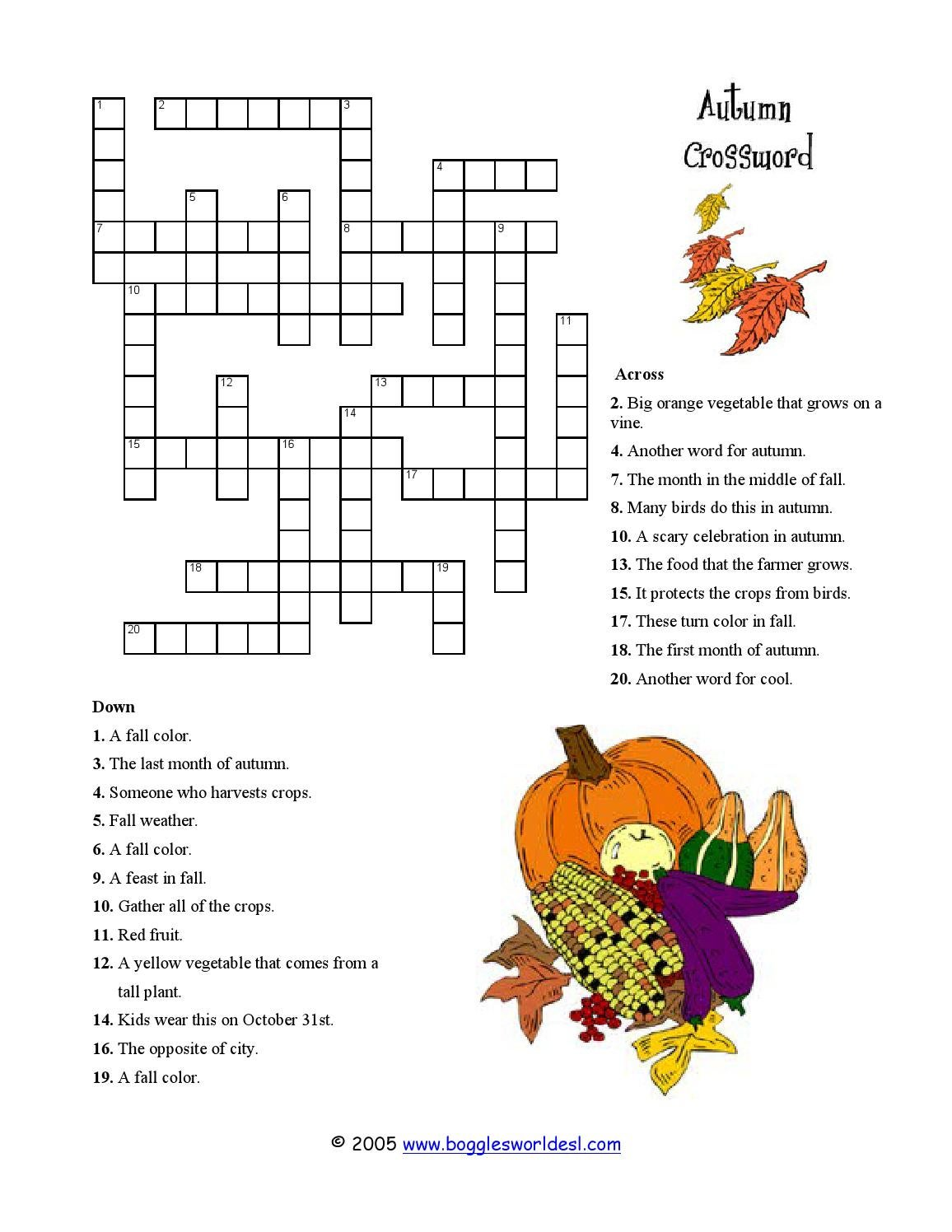 It's just an image of Trust Fall Crossword Puzzle Printable