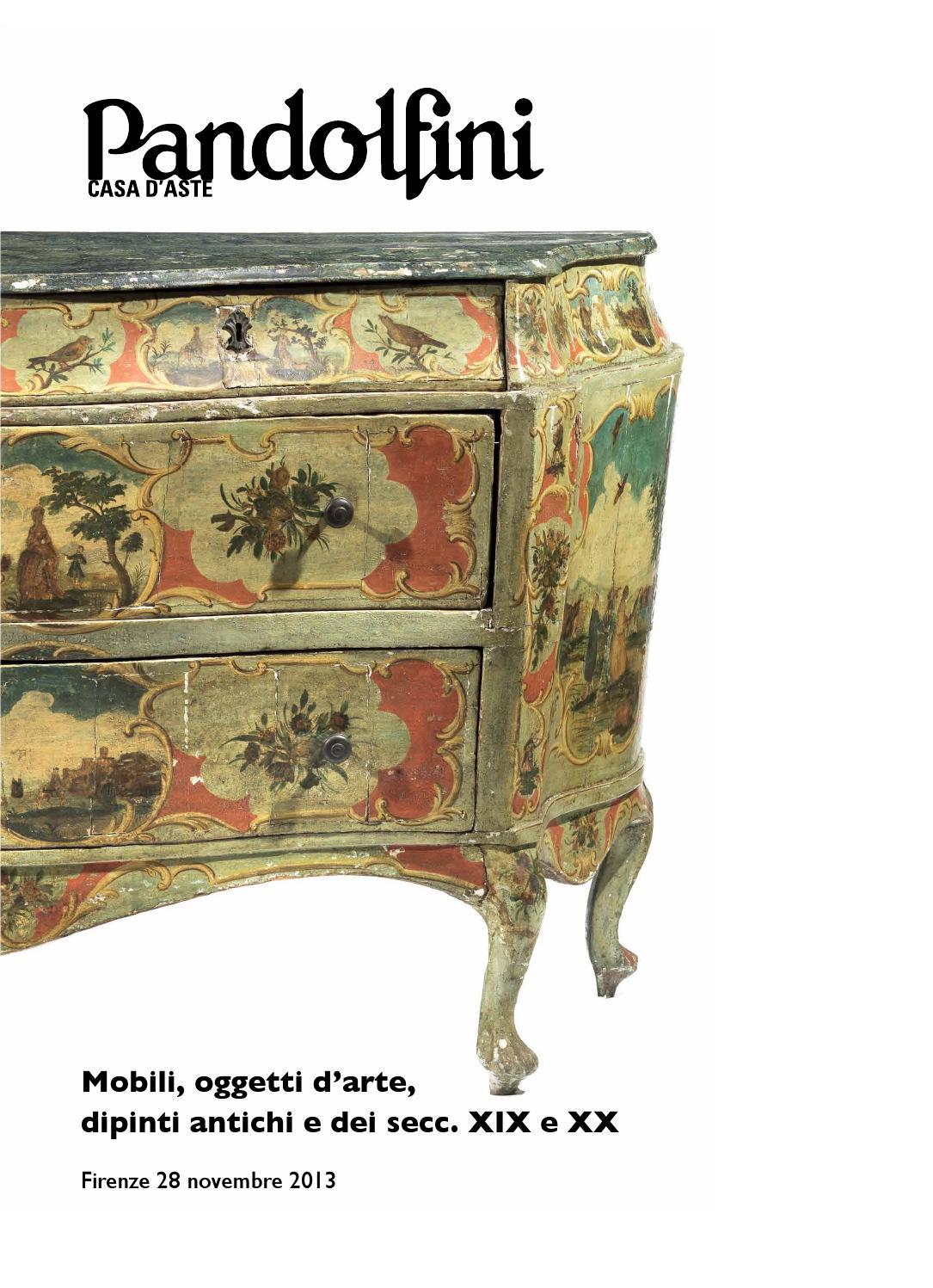 Asta di mobili e arredi dipinti antichi e dipinti del sec for Arredi e mobili