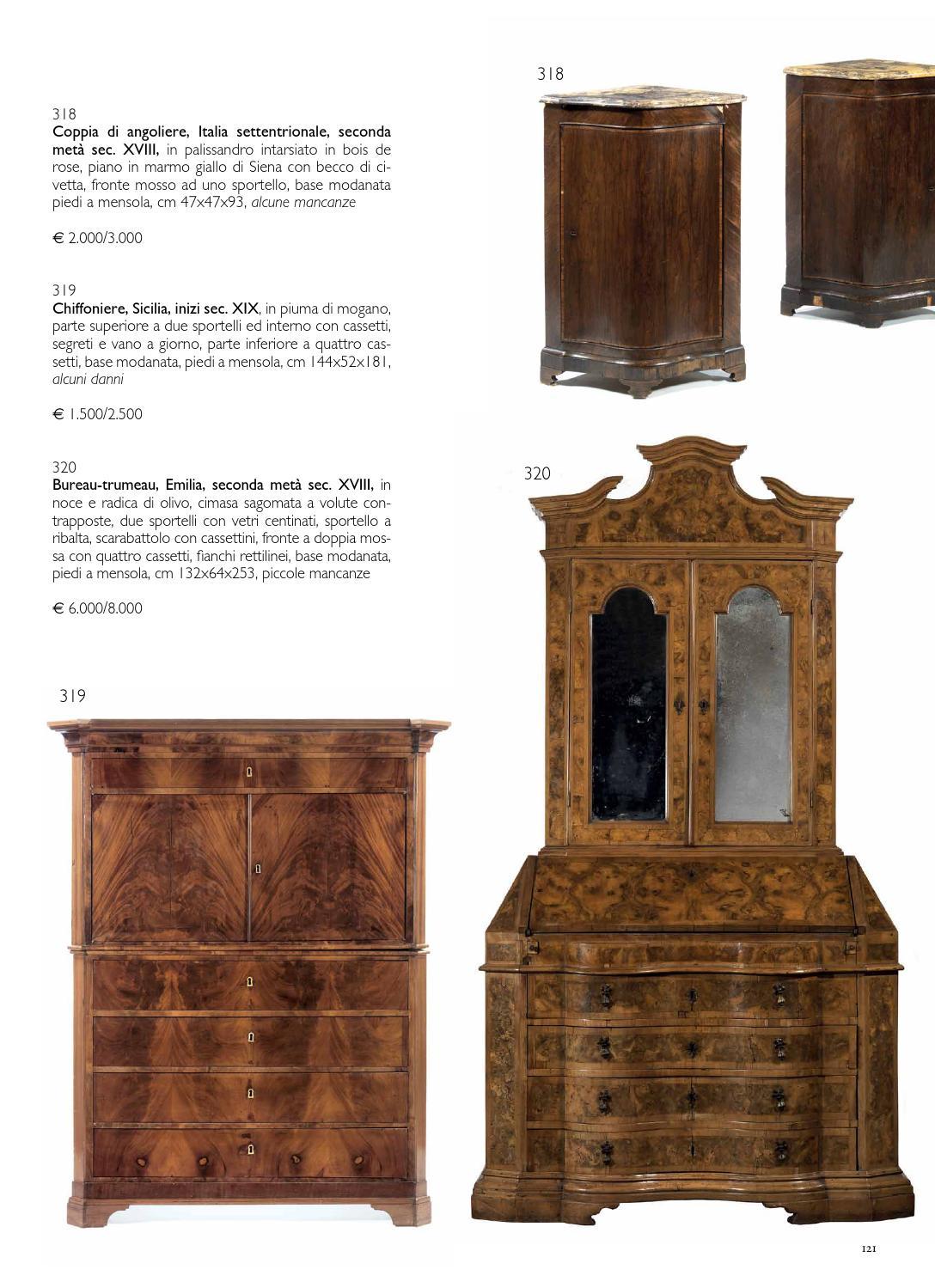 Mobili Con Cassetti Nascosti asta di mobili e arredi, dipinti antichi e dipinti del sec