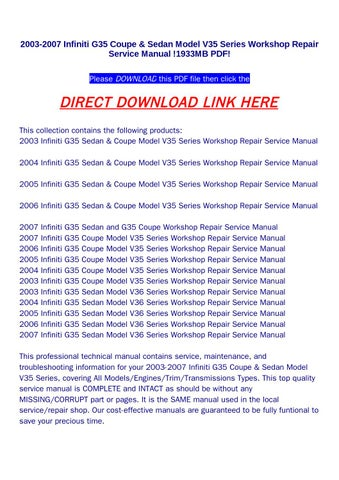2003 2007 infiniti g35 coupe sedan model v35 series workshop 2003 2007 infiniti g35 coupe sedan model v35 series workshop repair service manual 1933mb pdf please download this pdf file then click the asfbconference2016 Images