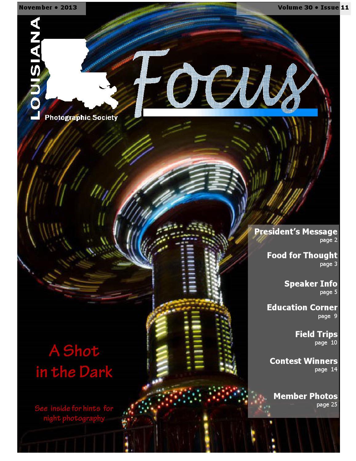 November 2013 Focus By Renee Pierce