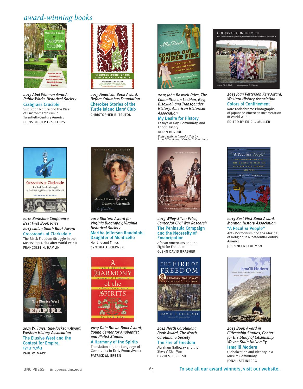 UNC Press Spring 2014 Catalog by The University of North