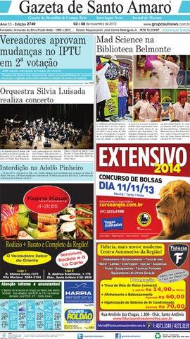 35fa6364b1 Edição 2740 - 02 a 08 de Novembro de 2013 by Grupo Sul News - issuu