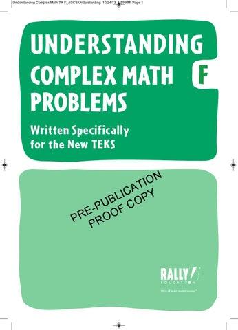 complex math problems