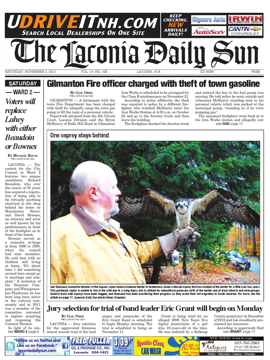 The Laconia Daily Sun November 2 2013 By Issuu Circuits With Suns Delayed Shift Hot Oil Shuttle Hydraulics