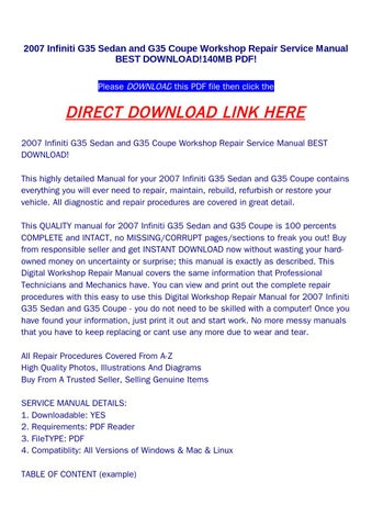 2007 infiniti g35 sedan and g35 coupe workshop repair service manual 2007 infiniti g35 sedan and g35 coupe workshop repair service manual best download140mb pdf please download this pdf file then click the asfbconference2016 Image collections