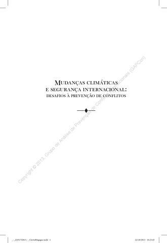 Mudanas climticas e segurana internacional clvis brigago by page 1 fandeluxe Gallery