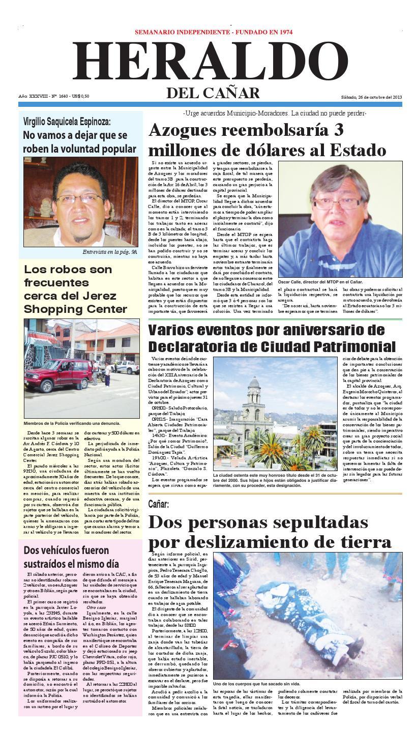 Periódico Digital - Heraldo del Cañar by Noticias del Cañar - issuu 49ca24a413f