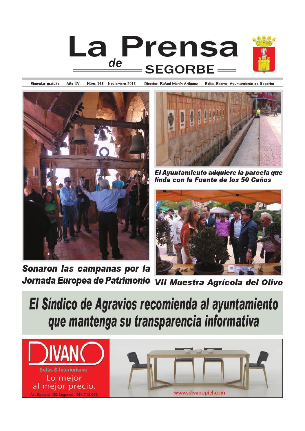 La Prensa De Segorbe N 168 Noviembre 2013 By Rafael Calvo Calpe  # Muebles Tina Calamocha