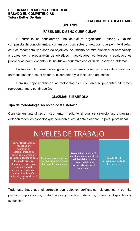 Fases Del Diseño Curricular By Paula Judith Prado Issuu