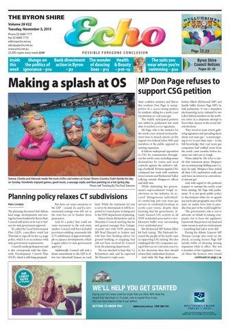Byron Shire Echo – Issue 28 22 – 05/11/2013 by Echo