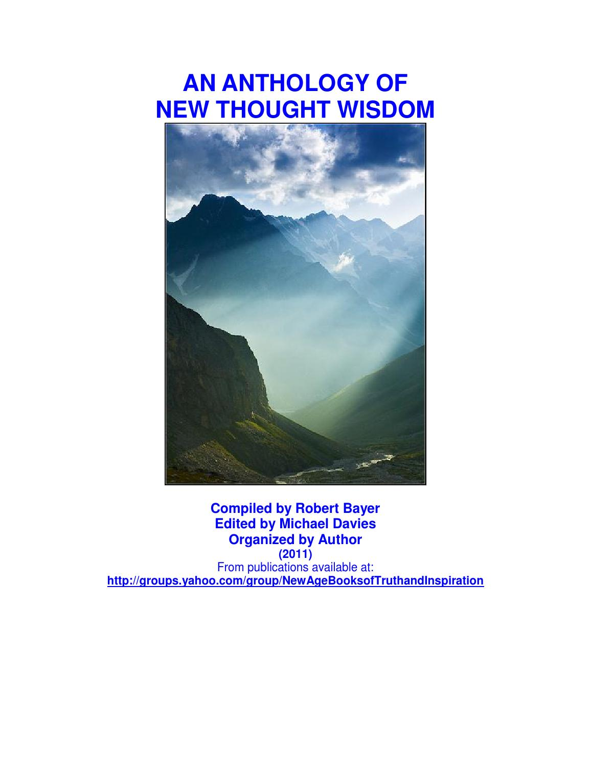 An Anthology of New Thought Wisdom - Bayer - Davies by