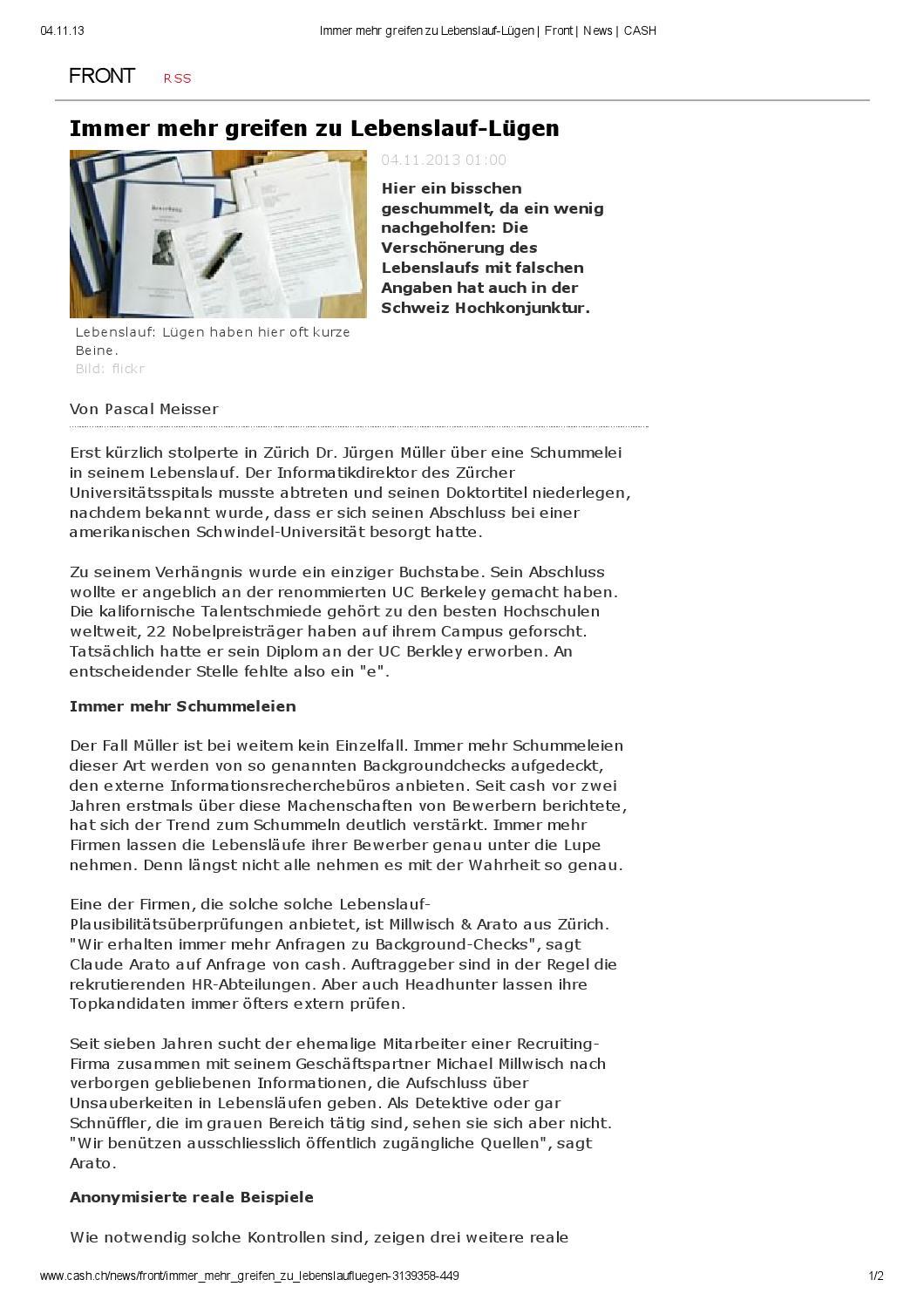 Millwisch Arato Background Check By Millwisch Arato Gmbh Issuu
