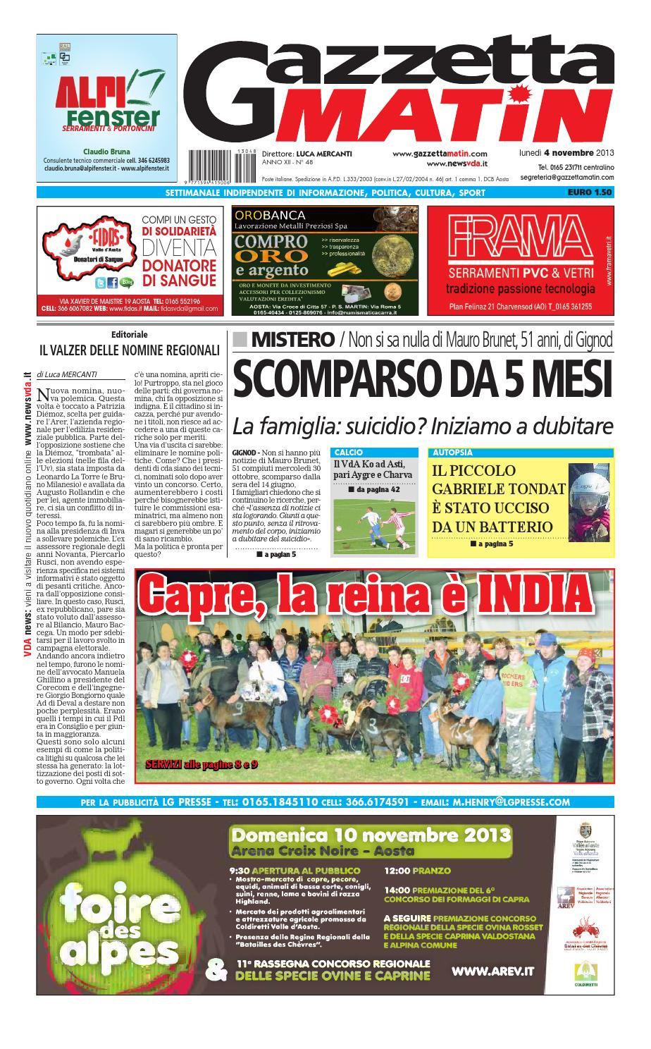 Gazzetta Matin del 04 novembre 2013 by Luca Mercanti - issuu