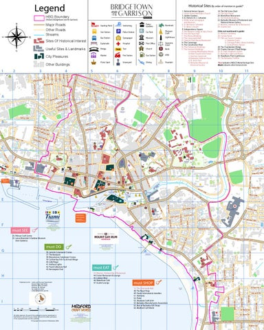 BRIDGETOWN AND ITS GARRISON Walking Map issue 1 by Cube Publishing