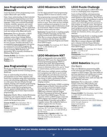 2014 Winter/SpringCatalog by Saturday Academy - issuu