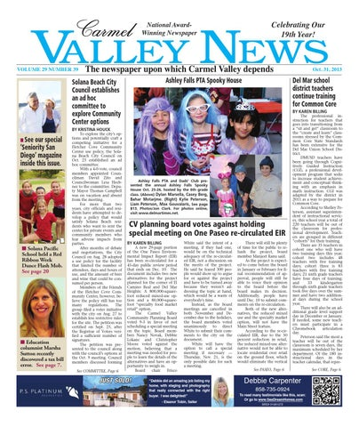Carmel valley news 10 31 13 by MainStreet Media - issuu